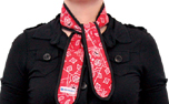 Aqua Cool Keeper Cooling Necktie, red western